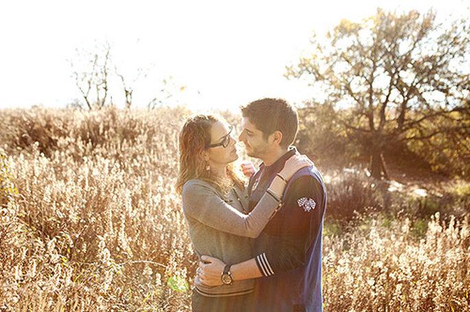 Mar y Raúl escogieron una de sus fotos pre-boda para las invitaciones. Foto: Carolina Sáinz