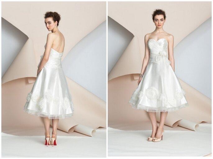 Vestido corto de novia por Alyne Bridal 2012