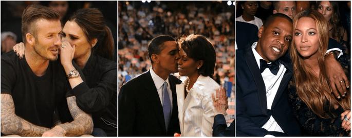 Victoria et David Beckham - Michelle et Barack Obama - Beyoncé et Jay Z