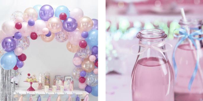 Arc de ballons pastel 70 pièces et Ruban satin rose blush clair