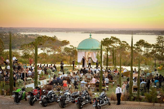 Cerimônia com vista no Villa Giardini Ecoparque