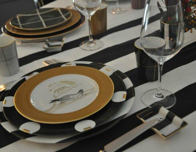 Decoraci n para bodas de lujo la originalidad de las for Vajillas elegantes