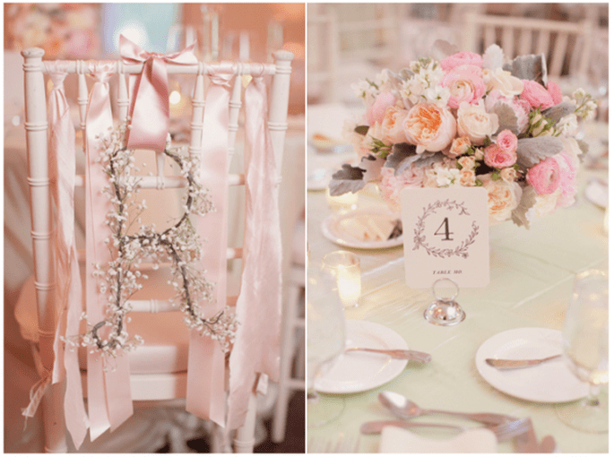 Los centros de mesa con flores más elegantes para una boda en 2014 - Foto Elisabeth Millay