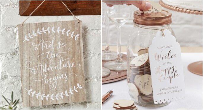 Mini carteles para bodas