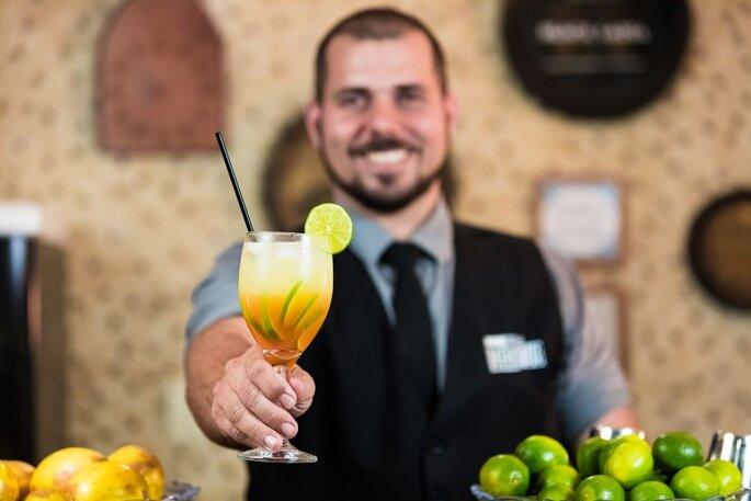 Drinque criado pela Maktub Open Bar
