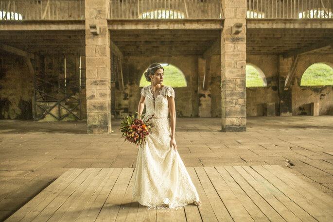 Vestido de noiva romântico