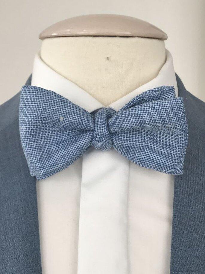 Noeud papillon bleu-gris de la gamme Les Francs-Tireurs