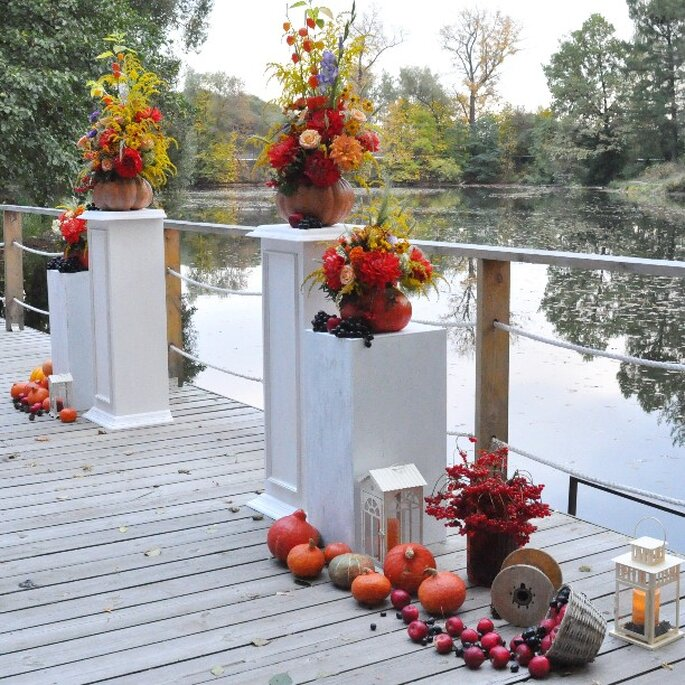 Herbstliche Traubögen