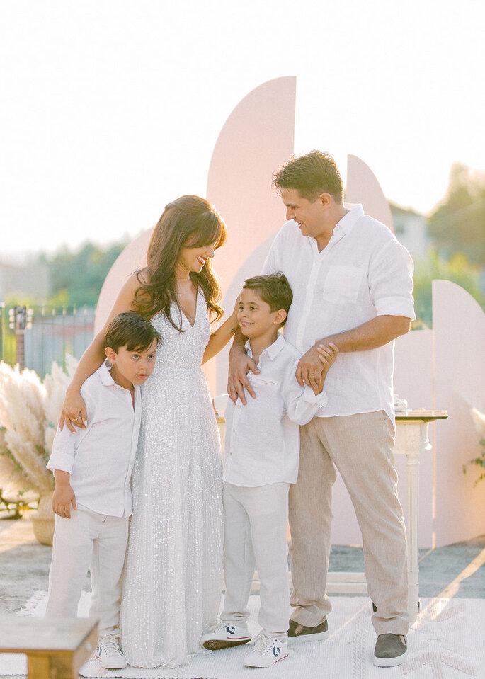 Jenny e Estevão com os filhos Vasco e Vicente