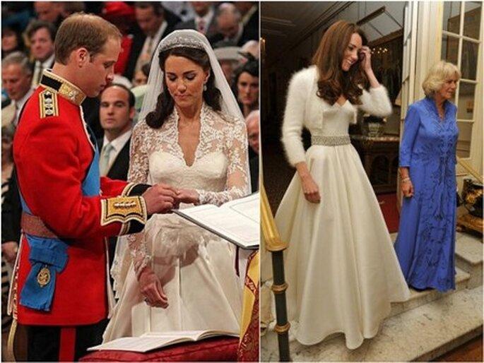 Os penteados de Kate Middleton no dia do seu casamento