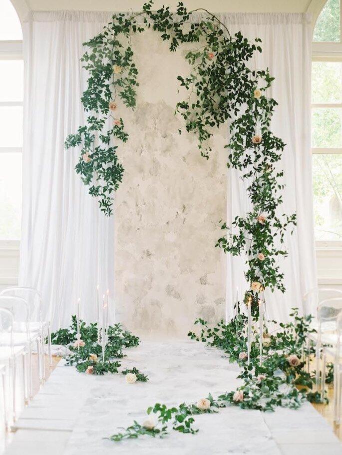 Backdrop para cerimônia de casamento marble