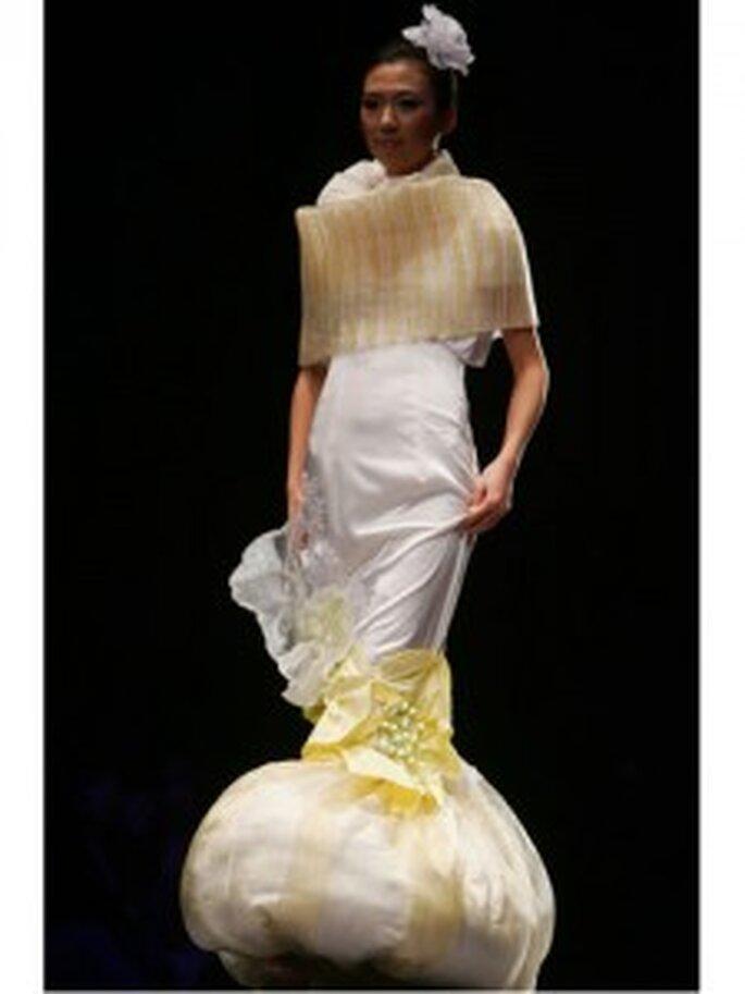 Vestido de novia feo, por no ser nada femenino