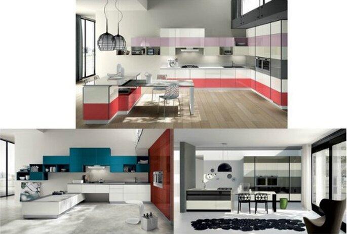 Il modello Tetrix di Scavolini è perfetto per una casa giovane e che vuole distinguersi