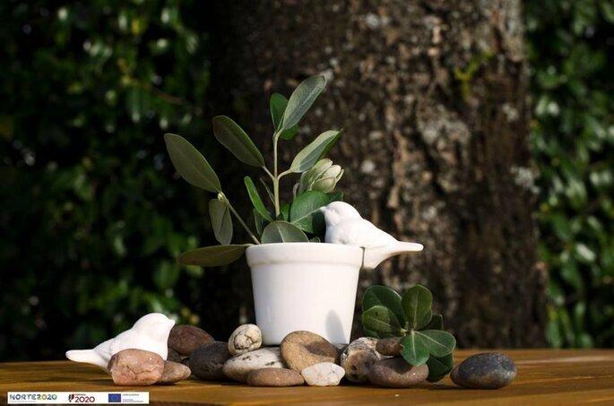 Vase fabriqué de façon artisanale par Crivart