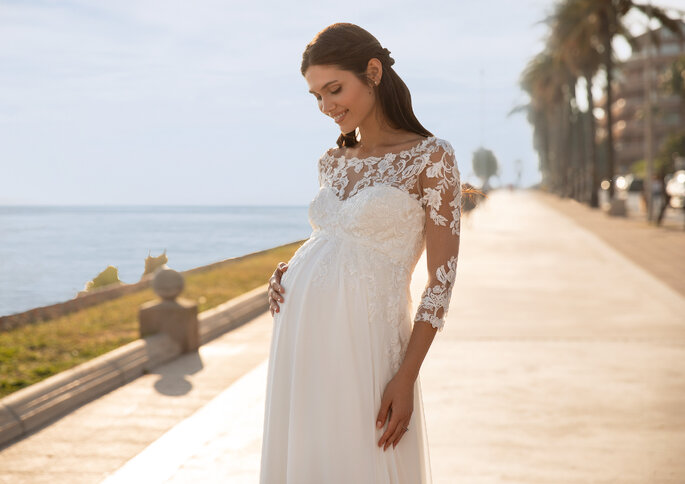 Pronovias vestido de noiva grávida