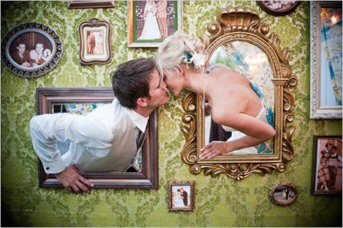 Eine Fotowand ist ein Renner auf jeder Hochzeit – Fotos: Matt Shumate Photography