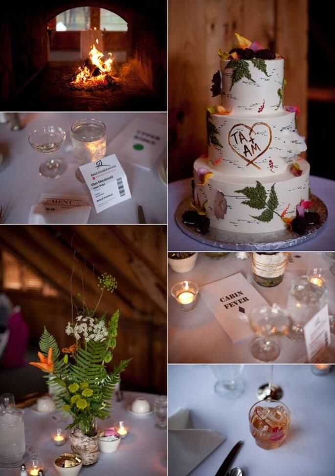 Inspiración con hojas para una boda otoño invierno. Imagen Alexandra Roberts