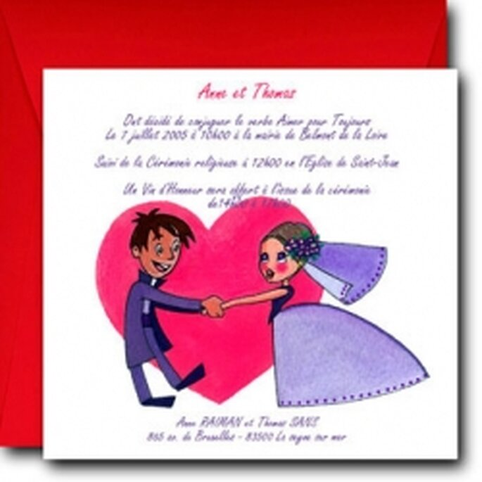 Site pour créer son faire-part de mariage - ABC faire part