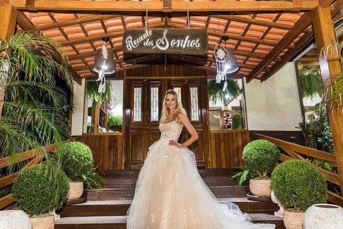 Ensaio da noiva casamento no campo