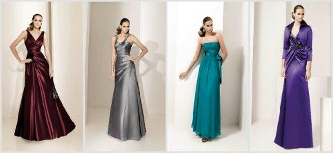 Para una boda elegante de noche lo mejor son los vestidos largos. Fotos: Pronovias