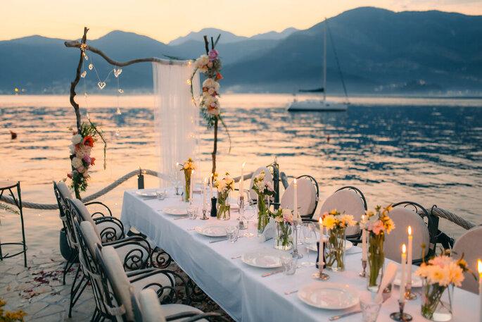 Centre de table de mariage élégants