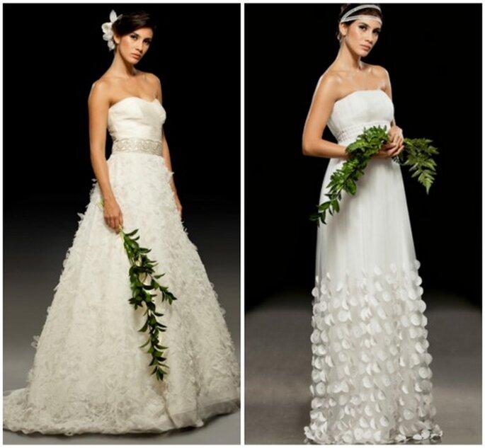 Vestidos de novia que son tendencia para 2012. Foto: Francesca Miranda