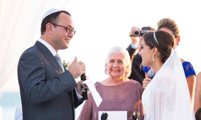 A avó de Luciana celebrou o casamento dela com o seu amado, Denis.