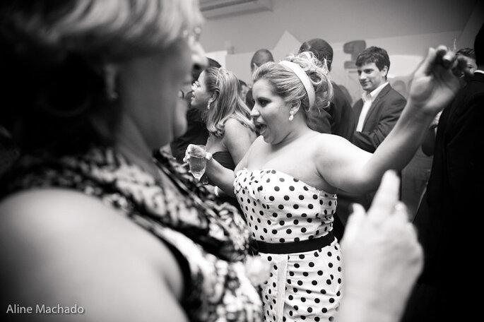 Die Braut steht heute im Mittelpunkt - am Polterabend. Photo: Aline Machado