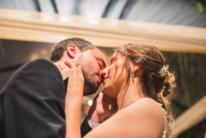 Foto de casal no casamento