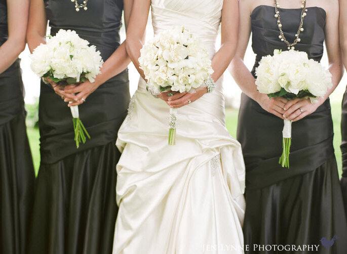 Damas de honor en la boda. Jen Lynne