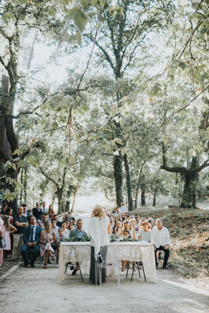 Casamento no exterior do Torre de Gomariz Wine & Spa Hotel
