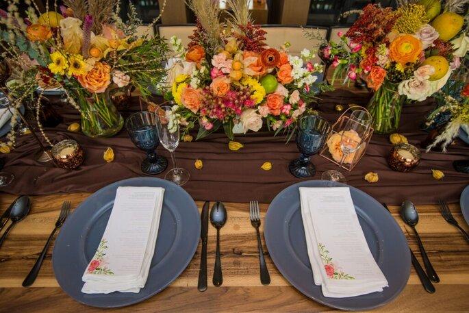 Christian Cardona Decoración de boda con frutas
