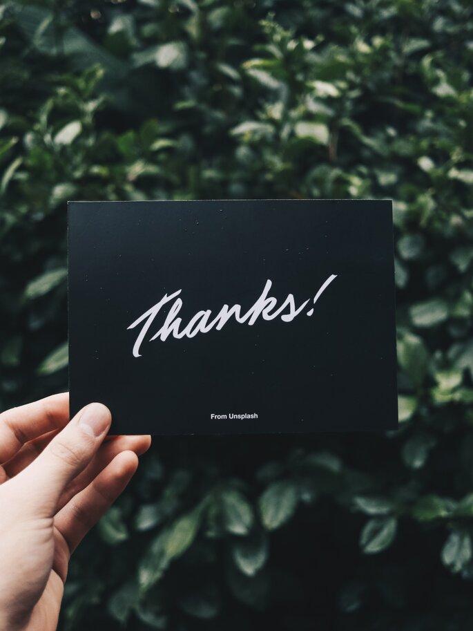 Como agradecer aos seus convidados em cinco passos