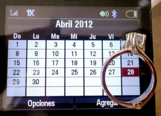 una forma original  de hacer un save the date