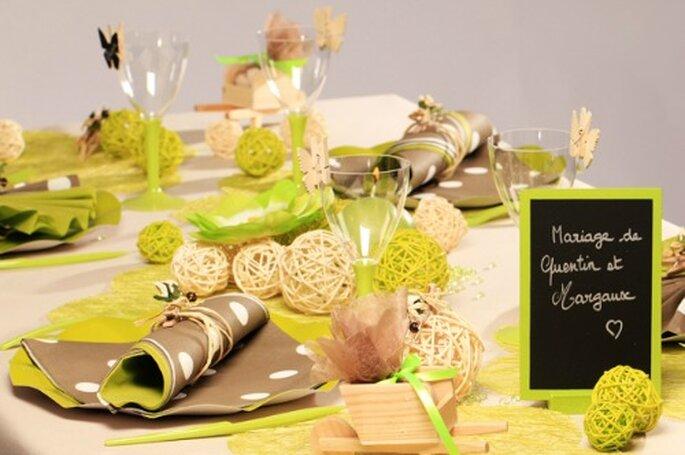 Une décoration de mariage au top avec Zoé Confetti - Photo : Zoé Confetti