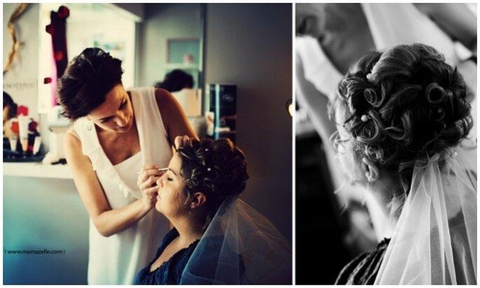Peinado alto para novia