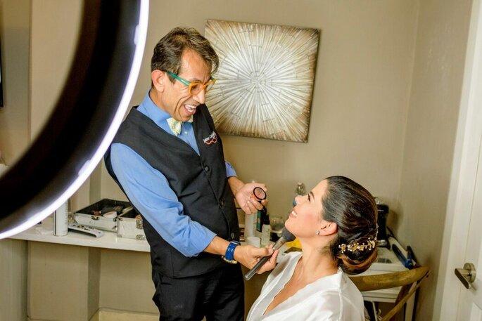 Jaime Castañeda maquillaje de novia Cartagena