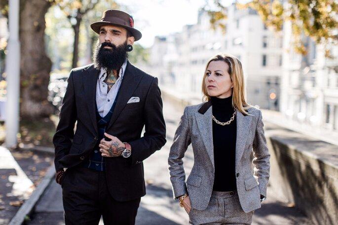 Im Modernen Street Style Look Zur Zivilen Hochzeit
