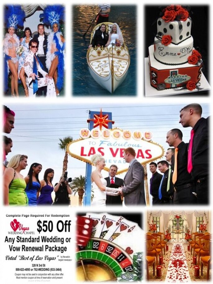 ¿Te gustaría organizar tu boda en las vegas?