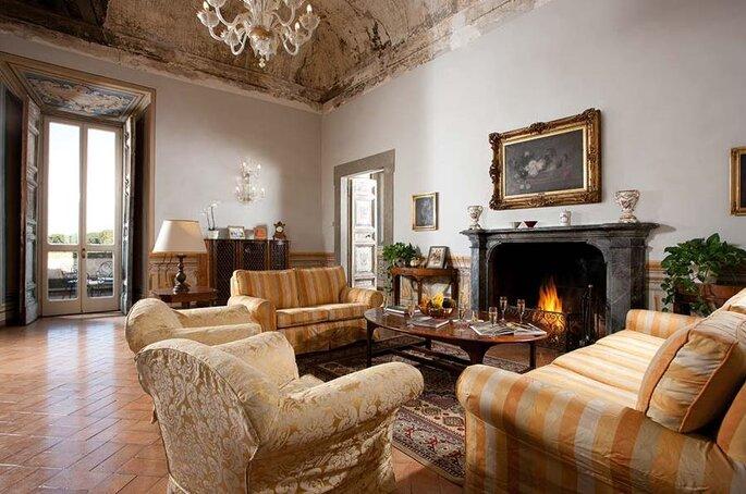 Villa Grazioli - Sala con camino