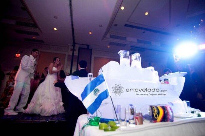 Escultura de hielo para tu boda. imagen Eric Velado