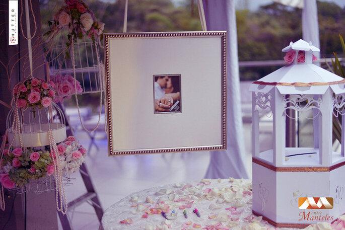 Detalles para una decoración de boda elegante y original. Foto: Entremanteles