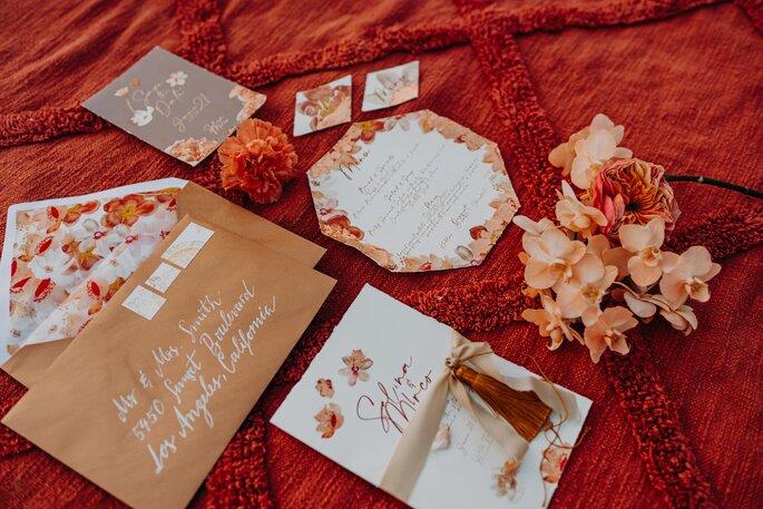 Die Farben des Orients Hochzeitsdekoration Papeterie