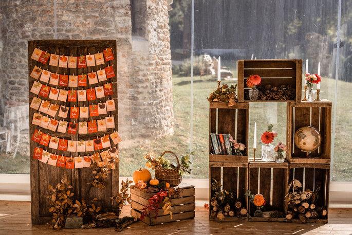 Une décoration parfaite pour un mariage champêtre en automne