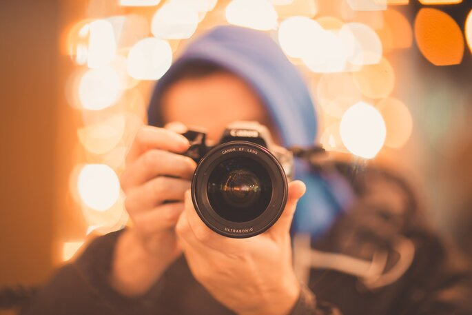 Pessoa a fotografar