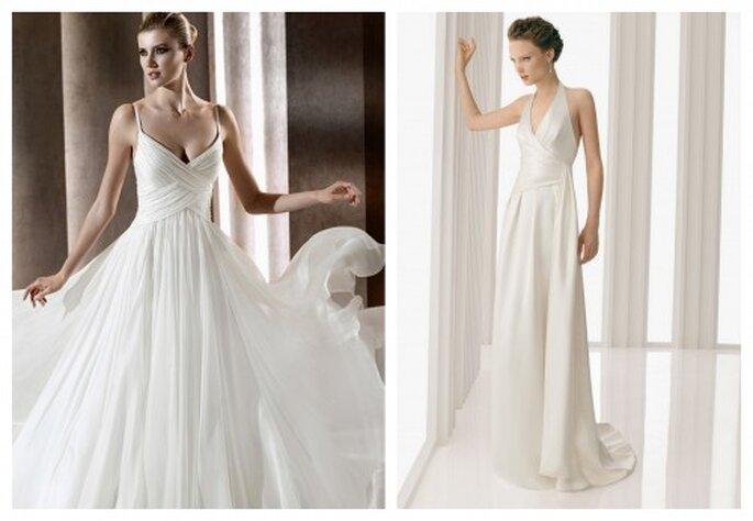 zwiewne suknie ślubne 2012