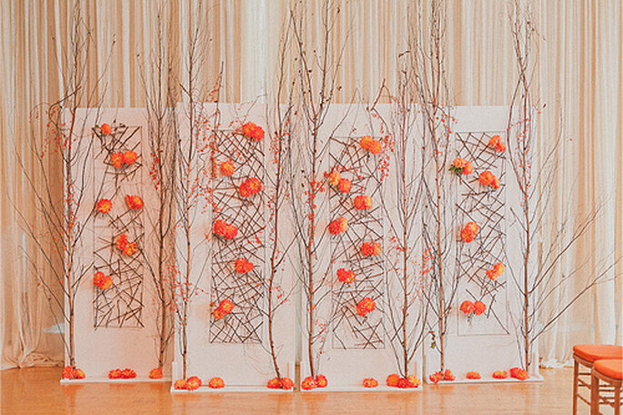 Décoration de mariage corail : top tendance ! - Photo : Sweet Little ...