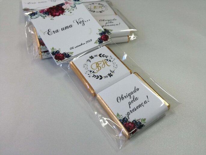 Chocolates lembrança de casamento