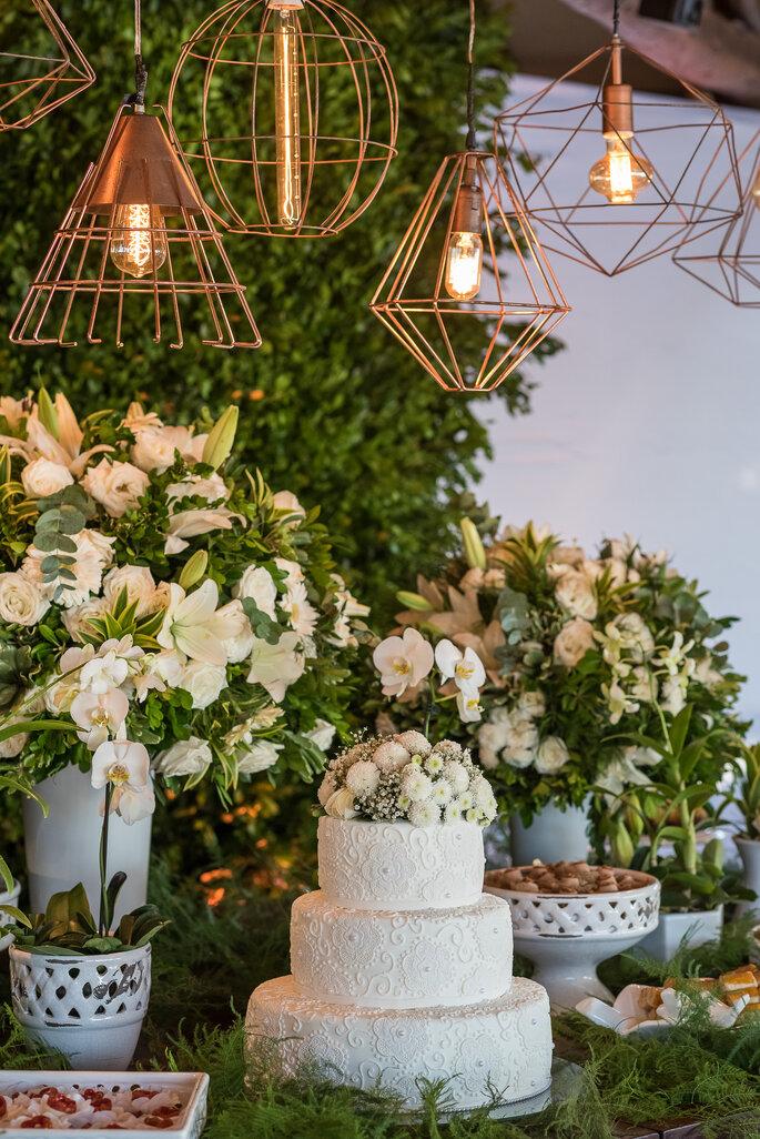 bolo de casamento com textura