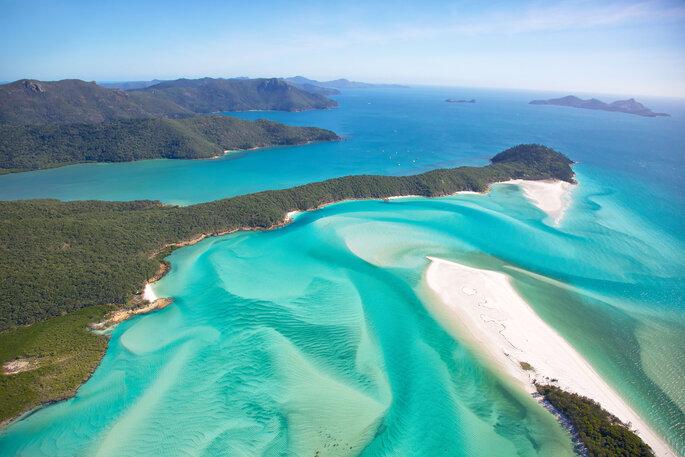 Playa de Whitehaven en Whitsundays, Australia.